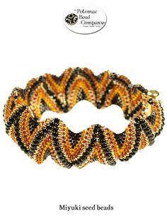Zig zag peyote bracelet from The Potomac Bead Company  http://www.potomacbeads.com