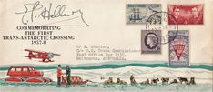 Trans-Antarctic crossing cover autographed by Sir Edmund Hillary, the expedition leader, and conqueror of Mt Everest. tied with Scott Base cancel Vintage World Maps, Stamps, Base, Cover, Seals, Postage Stamps, Stamp