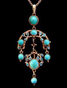 Liberty & Co. Jessie King Turquoise Pendant