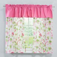 Konyhai függöny szett Isabella rózsaszín 130-180cm karnisméretre