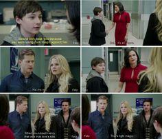 That's light magic. - Emma, Henry and Regina,
