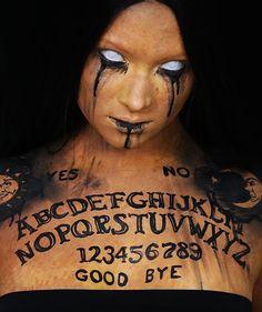 Ouija Board Amazing Halloween Costumes, Halloween Ball, Halloween Make Up, Halloween 2017, Holidays Halloween, Halloween Ideas, Ouija, Body Makeup, Sfx Makeup