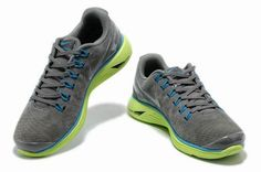 Nike LunarGlide+ 4 Premium Mens Suede Stealth Silver Electric Green Blue 664418 310