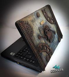 Steampunk pirate laptop cover