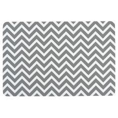 Shop Modern Chevron Stripe Light Gray Black White Floor Mat created by ZizzagoHomeDecor. Kitchen Mat, Polyurethane Foam, Floor Mats, Clocks, Cleaning Wipes, Chevron, Canvas Art, Black And White, Pillows