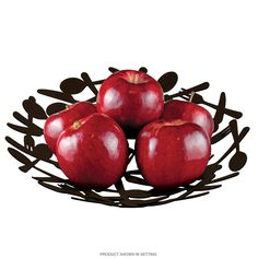 Unique contemporary decor like the Utility Fruit Bowl adds a fresh look to your restaurant, home or business. Metal bowl with matte-black finish measures 1.5