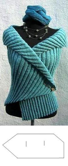 Miyake - Strik og broderi - garn, kits og designs i Sommerfuglen Hand Knitting, Knitting Patterns, Crochet Patterns, Knitted Bags, Knitted Blankets, Crochet Clothes, Diy Clothes, Vest Outfits, Knit Vest