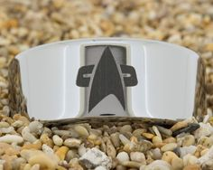 Pipe Tungsten Carbide Band Star Trek by PebbleBeachTreasures