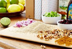 All the ingredients you need for Rachel Roy's Quinoa Curry Salad!