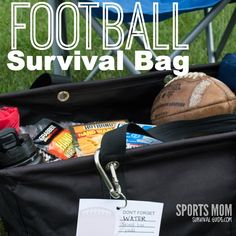 Don't leave home without these things, whether you are a coach, parent or the team mom, be prepared! Smart for the hopefuls in the family! Football Cheer, Youth Football, Team Mom Football, Football Stuff, Football Season, Football Coach Gifts, Football Drills, Tackle Football, Football Spirit