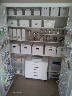 Turn a closet into an Art & Craft Closet Storage