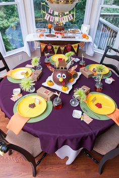 Colorful Thanksgiving Party for Kids via Kara's Party Ideas KarasPartyIdeas.com Printables, decor, supplies, food, favors, and more! #thanksgiving #thanksgivingparty #thanksgivingtable #turkeydinner (19)