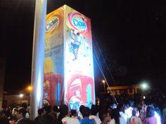 Torre escalada.Activación de marca para Ciclón. Guayaquil