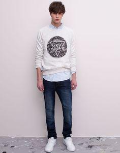 Pull&Bear - man - jeans - basic jeans - blue - 09685551-V2015