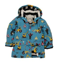Hatley bears at work raincoat - Maternity & Baby Boutique Boy Outfits, Winter Outfits, Cute Outfits, British Clothing Brands, Rain Gear, Boys Wear, Baby Boy Fashion, Kids Pajamas