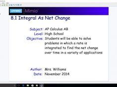 8.1 Integral as Net Change