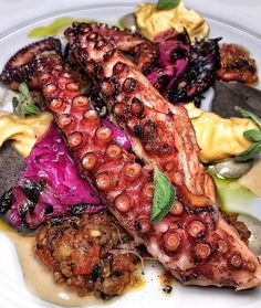 #Repost @tastesbetterhere  I'm a sucker for a good tentacle and when a restaurant NAILS its octopus dish.  @timnanyc excels in Mediterranean Israeli cuisine which makes me so excited for my trip to Israel in December!