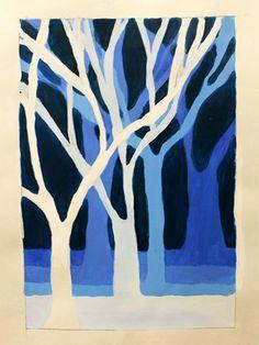 Artwork by Ebony252. Art1: Monochromatic Art Painting (Orange Park Highschool)