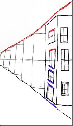 even more step by step and good instructional language to use for perspective drawings!
