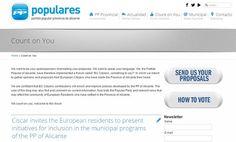 El PP de Alicante, a la caza del voto europeo (en internet)