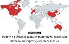 Państwa z długiem zagranicznym przekraczającym bilion dolarów (powiększenie – Państwa z długiem zagranicznym przekraczającym bilion dolarów (powiększenie w źródle).