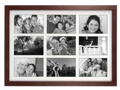 Classic Linear Wood Picture Frame with a mat included