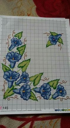 Diy Crafts - This Pin was discovered by Yas Cross Stitch Borders, Modern Cross Stitch Patterns, Cross Stitch Flowers, Cross Stitch Kits, Cross Stitching, Cutwork Embroidery, Cross Stitch Embroidery, Embroidery Patterns, Cross Stitch Pictures