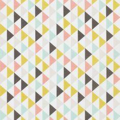 Tissu coton petits triangles - Coton : popeline, voile et flanelle - MODE Mondial Tissus