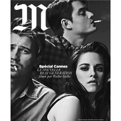 Kristen Stewart covers moody M Magazine with hunky On the Road costars! #cover #celebrity