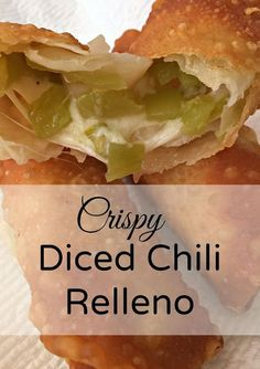 Diced Chili Relleno tutorial with photos.  If you want to make easy chili rellenos at home, but hate peeling the chili's this is a recipe that is amazing and very easy.