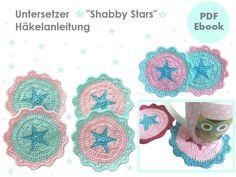 Untersetzer Shabby Stars - Häkelanleitung PDF Ebook
