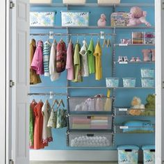 Closet Design Ideas and Walk in Closet Designs: Kid's Reach-In Closet