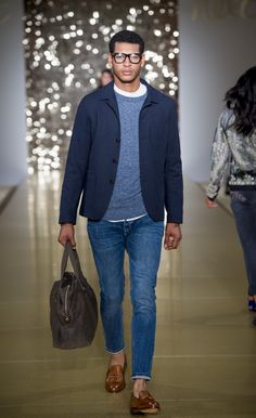Opting for a denim and sweater combo? Make it party-ready with the addition of a smart jacket. | Xmas Press Launch '16