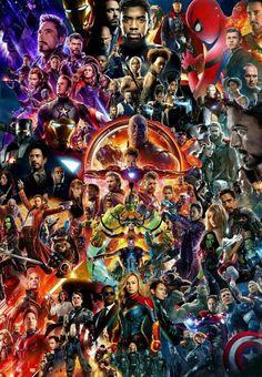 Mcu Movie Collage Poster Avengers Endgame Iron Man Thor Spider-Man Us - Marvel Captain Marvel, Odin Marvel, Hero Marvel, Marvel Art, Poster Marvel, Avengers Poster, Marvel Movie Posters, Film Posters, Avengers With Spiderman