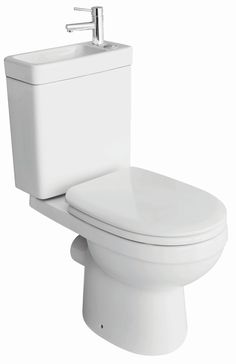 Cooke & Lewis Duetto Close-Coupled Toilet with Integrated Basin with Soft Close Seat | Departments | DIY at B&Q