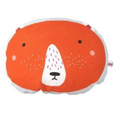 Red bear pillow