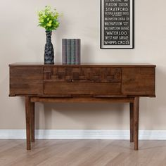 Tessuto Tobacco Finish 4-drawer Sofa Table - Overstock™ Shopping - Great Deals on Coffee, Sofa & End Tables
