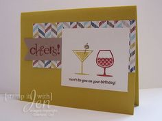 Birthday Card using Happy Hour Stamp Set! (Stampin' up!)