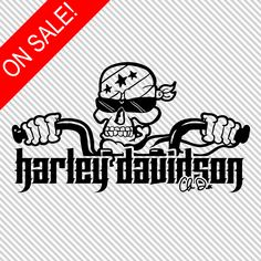 Harley Davidson Flaming Skull Vinyl Decal By AngiesAffordables - Stickers for motorcycles harley davidsonsmotorcycle decals and stickers