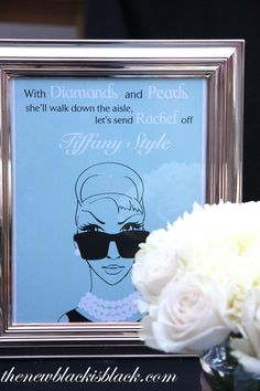 Breakfast at Tiffany's Bachelorette Party-omg this is great!!! And even has my name in it