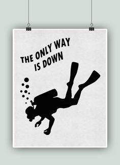 Cartel de Diver Scuba buceo arte cartel de buceo por DigitalArtLand