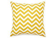 20x20 Zig Zag Outdoor Pillow, Yellow on OneKingsLane.com