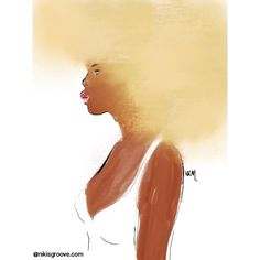 Niki Kobi Brown skin blond hair… About being comfortable in blond hair #nikisgroove #illustration #nappy #cheveuxcrepus #afroart #blackart #naturalhairart #naturalhair #draw  (à nikisgroove.etsy.com)