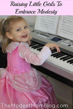 Raising Little Girls To Embrace Modesty | themodestmomblog.com