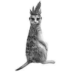 Prints for Nurseries, Wizard Illustrations, Meerkat Princess on 300gsm cotton rag paper, limited edition print of 50. Available in A3 & A4 #prints #printsfornurseries