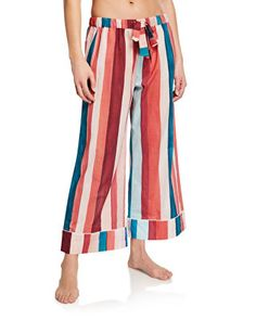 Desmond & Dempsey lounge pants in stripes. Pull-on style. Sleepwear Women, Lingerie Sleepwear, Lounge Pants Outfit, Funny Pajamas, Cotton Pyjamas, Pants Pattern, Everyday Outfits, Night Gown, Trendy Outfits