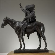 "Chief Washakie, Cyrus Dallin. 43"" cast located at Springville Museum of Art."