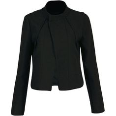 Yoins Blazer ($33) ❤ liked on Polyvore featuring outerwear, jackets, blazers, yoins, blazer и tops