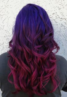 Check Out Our , Reddish Purple Hair Color Beautiful Related Image Love the Hair, Hair Color Trends 2017 2018 Highlights Black Hair with Purple, Pastel Purple Hair Dye Beautiful Hair Colored Tips 21 Pastel Purple. Violet Hair Colors, Hair Color Purple, Orchid Color, Blue Ombre, Color Red, Wild Hair Colors, Blue And Red Hair, Ombre Colour, Magenta Hair