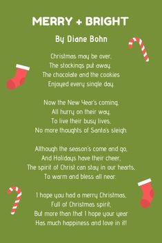 merry and bright poem Advent For Kids, Advent Calendars For Kids, Christmas Poems, Christmas Activities, Funny Poems, Christmas Plants, Santa Sleigh, Busy Life, Singles Day